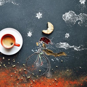 кофейные арт компиляции - Синтия Болоньези (Cinzia Bolognesi)-Сладкие мечты
