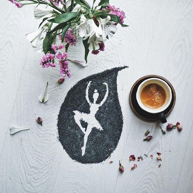 кофейные арт компиляции - Синтия Болоньези (Cinzia Bolognesi)-Свет на чердаке
