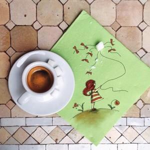 кофейные арт компиляции - Синтия Болоньези (Cinzia Bolognesi)-Воздушный змей