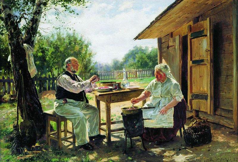 Варят варенье, 1876 - Маковский Владимир