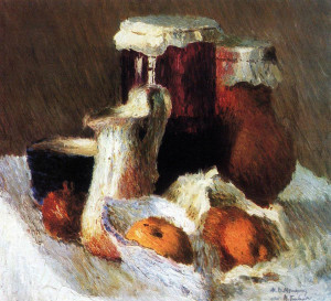 Игорь Эммануилович Грабарь Банка с вареньем и яблоки, 1904