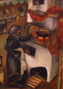 Марк Шагал. Бабушка варит варенье