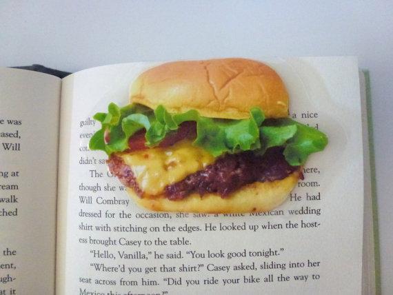 книжные закладки-бургер