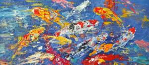 Ben Chen-картина-рыбки кои