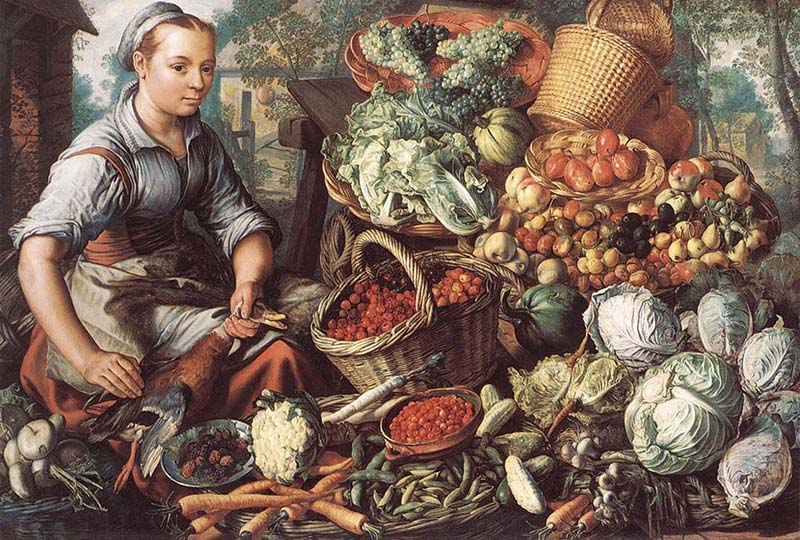 Продавщица фруктов и овощей 800 х 540
