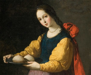 """картина Франсиско Сурбарана """"Святая Агата"""", 1630"""