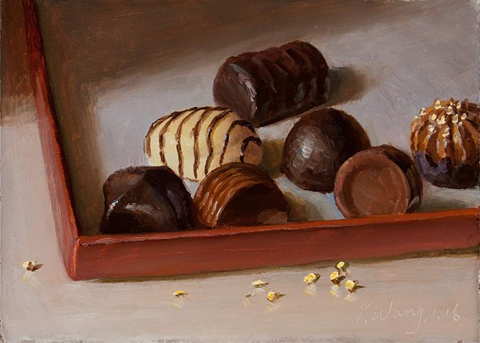 """картина Eugene Wang """"Шоколадные конфеты"""""""
