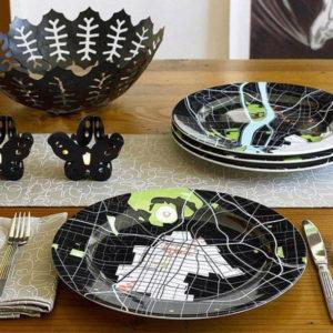 коллекция тарелок Город