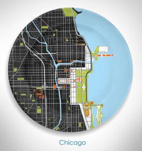 дизайн тарелка Чикаго