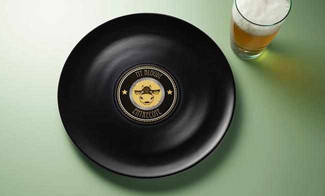 дизайн тарелка-грампластинка
