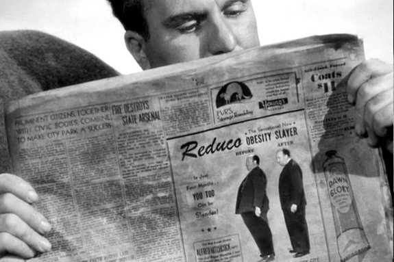 Альфреда Хичкока в фильме Спасательная шлюпка» (1944