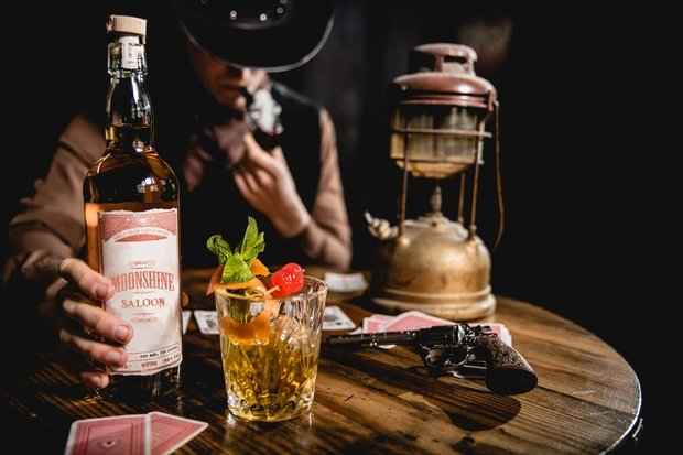 Moonshine Saloon-Western Cocktail Bar-Лондон