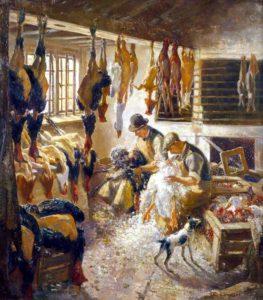 Художник Charles Ernest Cundall Рождественские приготовления в Болье