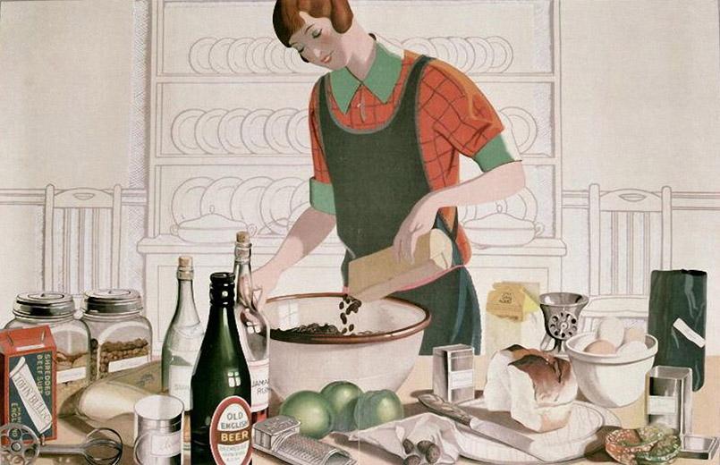 Художник Emma Florence Harrison Рождественский пудинг, 1928