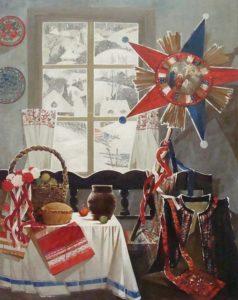 Художник Оксана Архипова Натюрморт с рождественской звездой. 2010