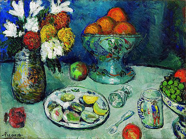 Пикассо Посуда на столе 1901