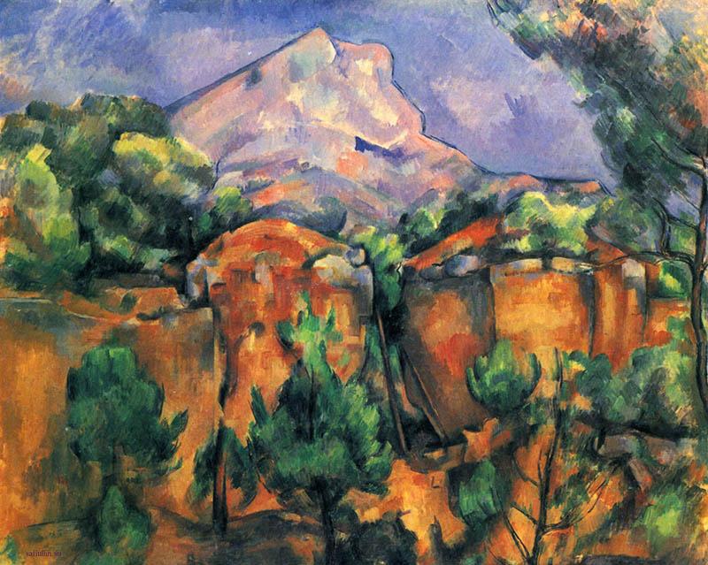 Поль Сезанн Вид на гору Сент-Виктуар 1897