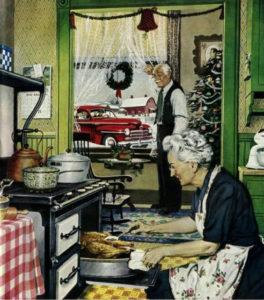 Рождественская иллюстрация Нормана Роквелла