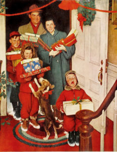 "Норман Рокуэлл, ""С Рождеством, бабушка"""