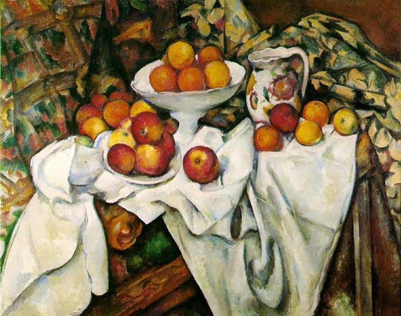 """Поль Сезанн Натюрморт """"Яблоки и апельсины"""" (1899)"""