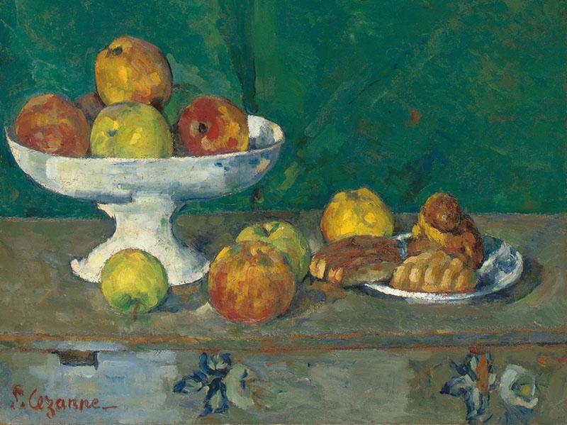 Натюрморт Яблоки и печенье, Paul Cezanne, 1873-1877.