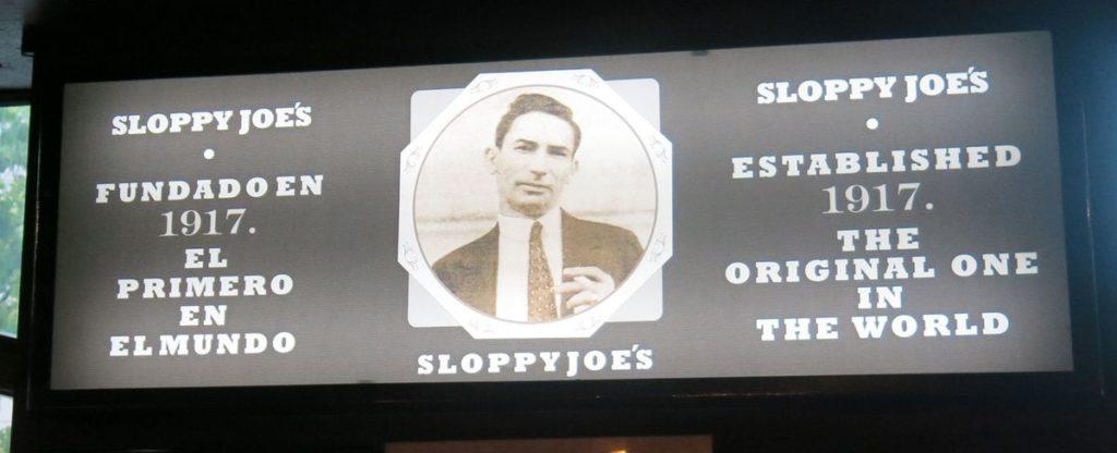 вывеска Sloppy Joes