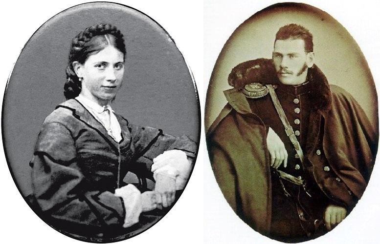 Софья Берс и Лев Толстой в молодости