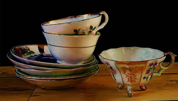 чайные чашки в живописи