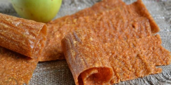 яблочная пастила домашнего приготовления