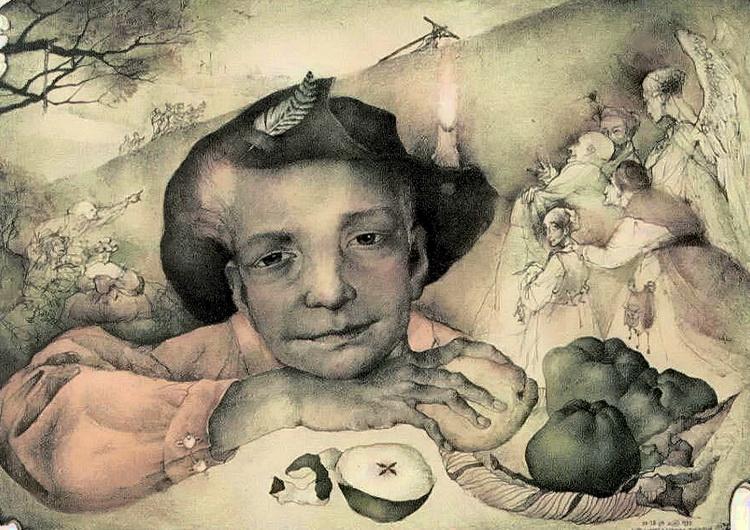 смешанная техника-Marina Richterova