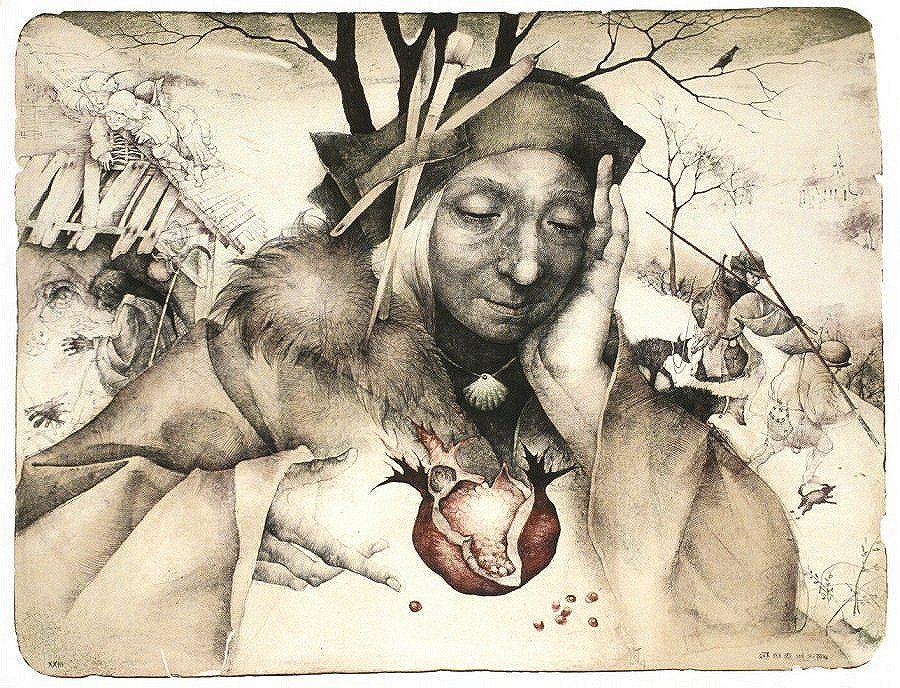 работа чешской художницы Марины Рихтеровой