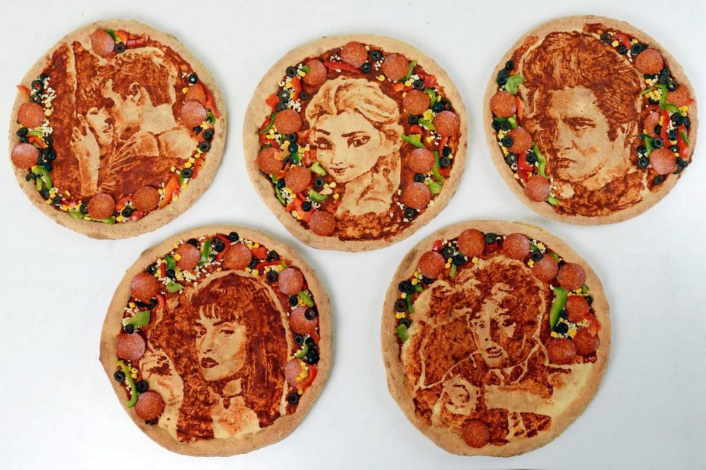 Artist-Nathan-Wyburn-creates-iconic-movies-on-Dominos-pizzas