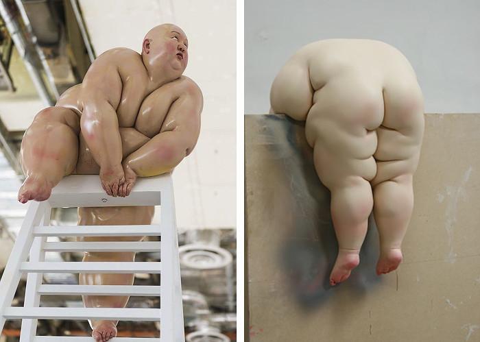 сюрреалистические толстяки китайского скульптора Му Бояна