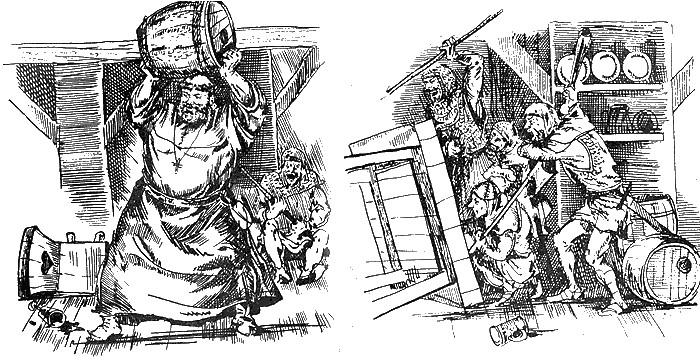 Монах Тук - иллюстрация к легенде о Робин Гуде