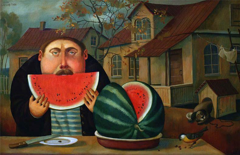 толстяки на картинах Бориса Иванова