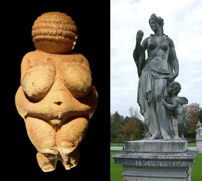 скульптуры древних богинь любви и плодородия
