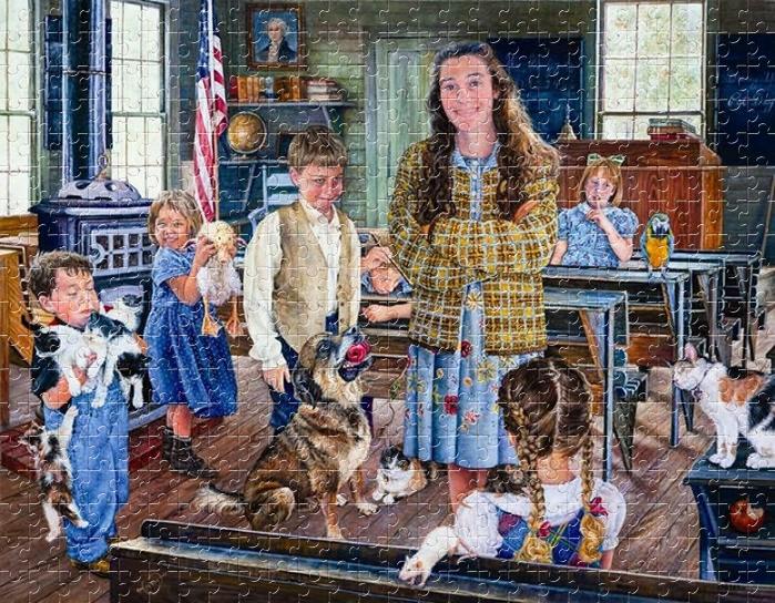 День домашних животных-Puzzle Jigsaw-Art by Susan Brabeau