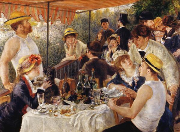Завтрак гребцов (1881), художник Пьер Огюст Ренуар