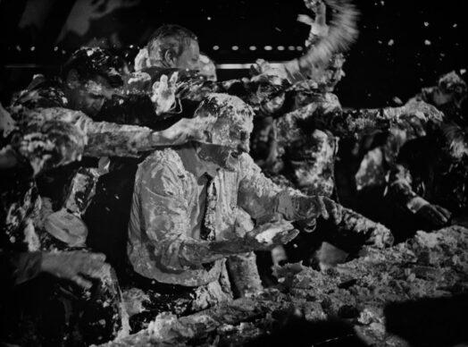 сцена сражения кремовыми тортами из фильма «Доктор Стрейнджлав» (1963)