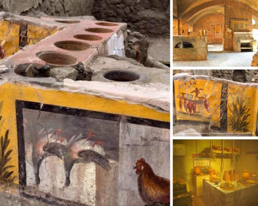 Внутренний интерьер термополии в Помпеях