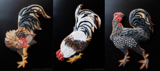 декор печенья по мотивам картин Ито Джакучу-3х1