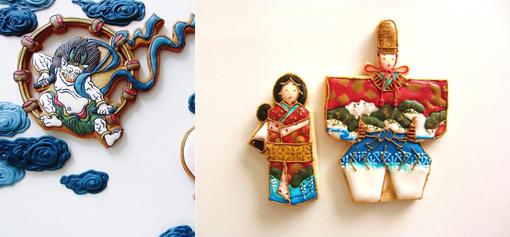 дизайн глазированного печенья Япония