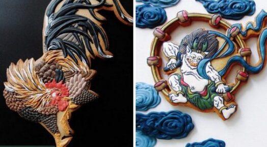 дизайн росписи печенья глазурью_япония
