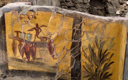 древние фрески-дизайн интерьера античной таверны