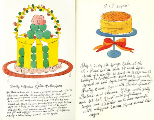 иллюстрация Уорхола для кулинарной книги Дикая малина
