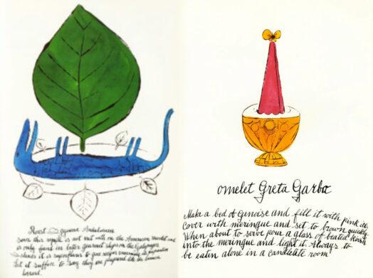 рисунки-иллюстрации Уорхола для кулинарной книги Дикая малина