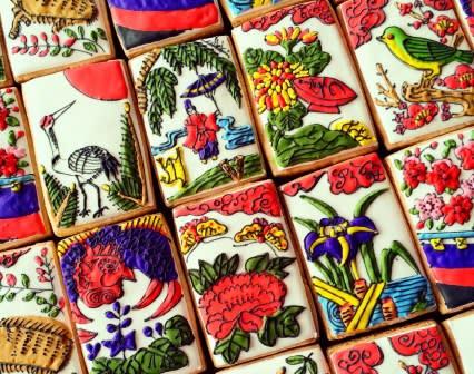 японское печенье_мика огава_cookies_playing_cards