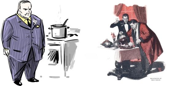 знаменитые персонажи кулинарных романов - сыщик Ниро Вульф